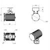 Светодиодный светильник ДСП 27-70-850-Г60