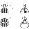 Взрывозащищенный светодиодный светильник Ex-FHB 05-150-50-C120