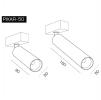 Трековый светодиодный светильник PIXAR 34-50/90-6 DIM DALI
