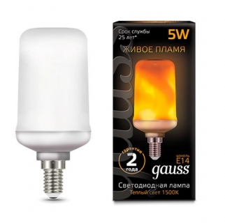 Лампа Gauss LED T65 Flame